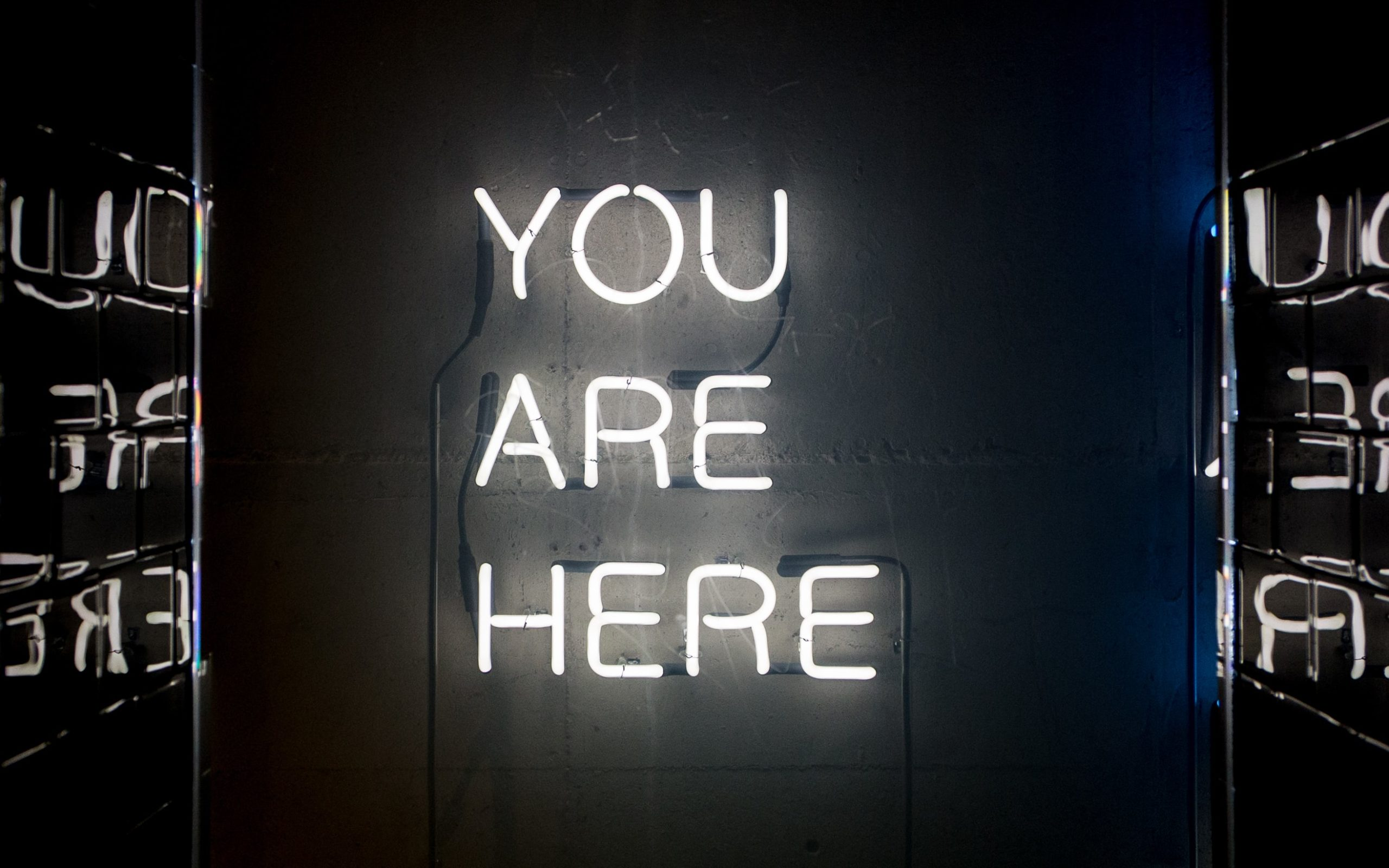 Neonletter You Are Here